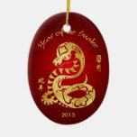 Year of the Snake 2013 - Chinese New Year Christmas Ornament