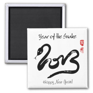 Year of the Snake 2013 - Happy Chinese New Year Square Magnet