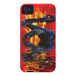 Year of the Snake  Black Snake  Chinese New Year iPhone 4 Covers