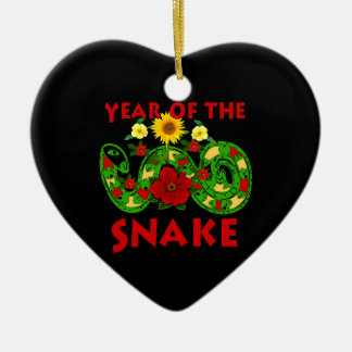 Year Of The Snake Ceramic Heart Decoration