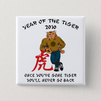 Year of The Tiger 2010 Men's 15 Cm Square Badge