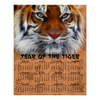 Year of the Tiger 2010 Poster