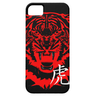 Year of the Tiger Artwork in Black and Red Barely There iPhone 5 Case