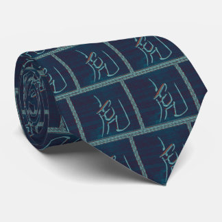 Year of the Tiger-Ocean Blue Tie