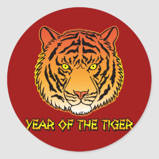 Year of the Tiger Portrait Classic Round Sticker