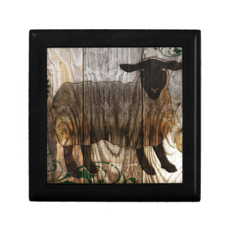 year of the wooden sheep small square gift box