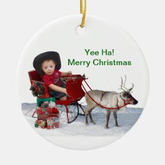 Yee Ha! Merry Christmas Ornament