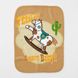 """Yee haw Country Baby"" Burp Cloth"
