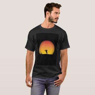 Yee Haw Cowboy Hat Sunset Ride Art Modern T-Shirt