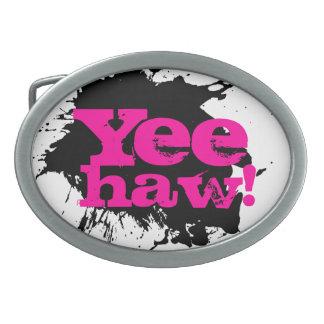 Yee Haw Cowgirl Belt Holy Cow Belt Buckle