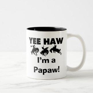 Yee Haw I'm a Papaw T-shirts and Gifts Two-Tone Coffee Mug
