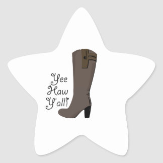 Yee Haw Y all Star Sticker