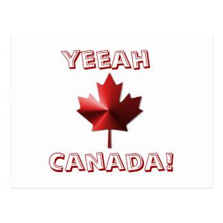 Yeeah Canada Flag Maple Leaf Post Card