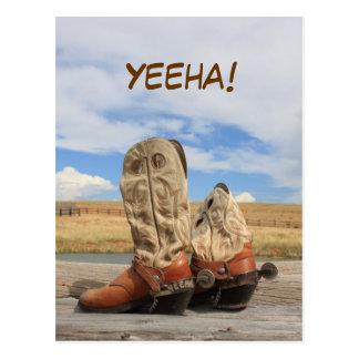 Yeeha! Western Boot Postcard