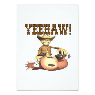 Yeehaw 2 13 cm x 18 cm invitation card