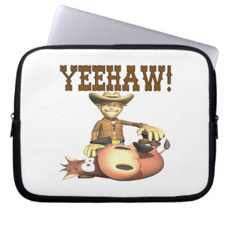 Yeehaw 2 laptop sleeves