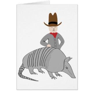 Yeehaw Armadillo! Greeting Card