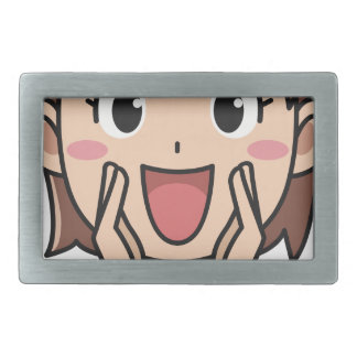 Yelling Woman Rectangular Belt Buckle