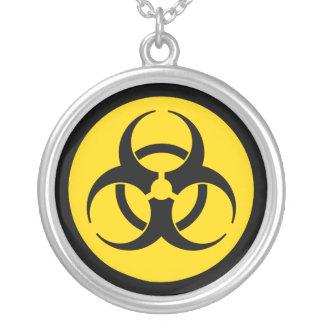Yelllow & Black Biohazard Symbol Necklace