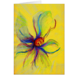 Yello Magnolia Flower Collage Greeting Card