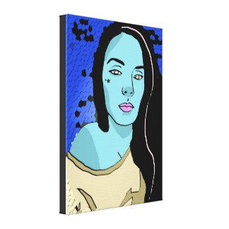 Yelloe Eyed Girl Canvas Print