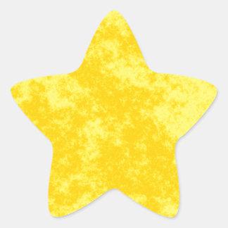 Yellow1 Soft Grunge Design Star Sticker