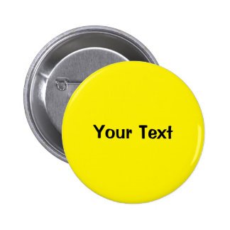 "Yellow 2 1/4"" Custom Text Button Template"