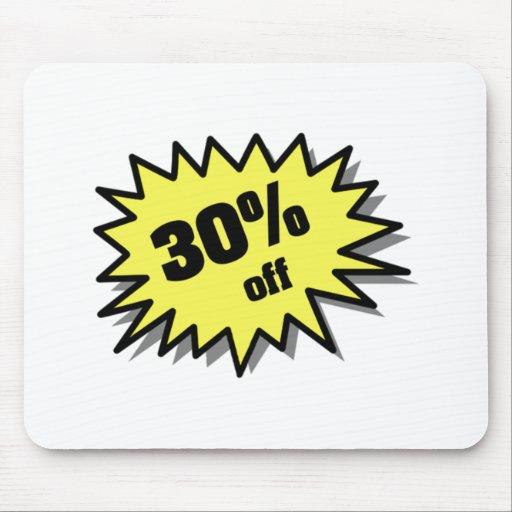 Yellow 30 Percent Off Mousepads