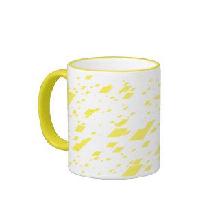 Yellow 3d Boxes Ringer Mug
