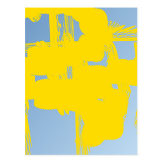 yellow 783 abstract art post cards