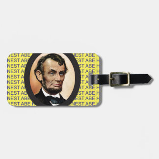 yellow Abe background Bag Tag