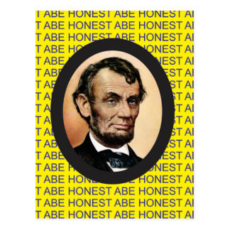 yellow Abe background Postcard