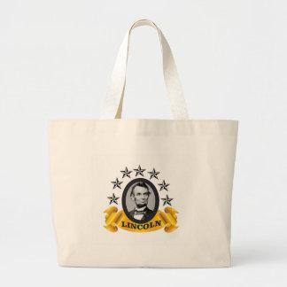 yellow abe banner large tote bag
