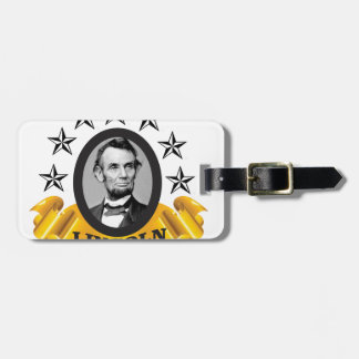 yellow abe banner luggage tag