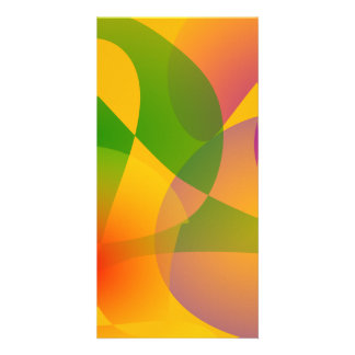 Yellow Abstract Composition Picture Card