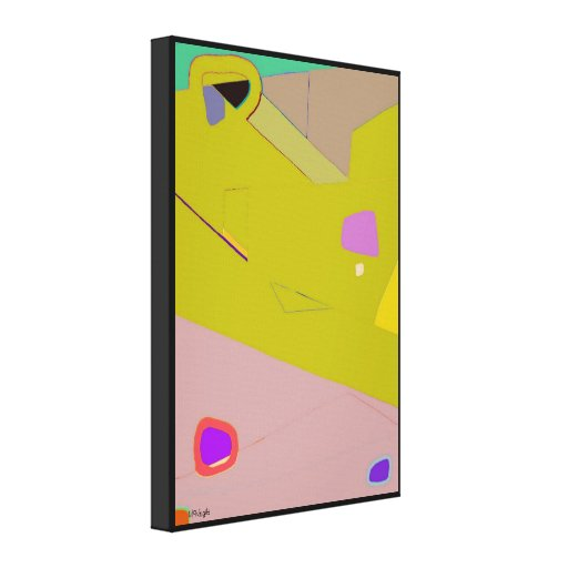 Yellow Abstract Expressionism Canvas print