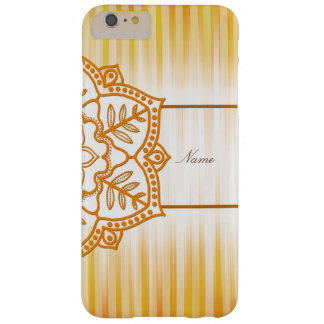 Yellow Abstract Flower Barely There iPhone 6 Plus Case