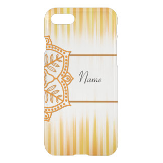 Yellow Abstract Flower iPhone 7 Case