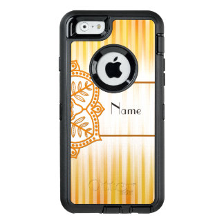 Yellow Abstract Flower OtterBox Defender iPhone Case