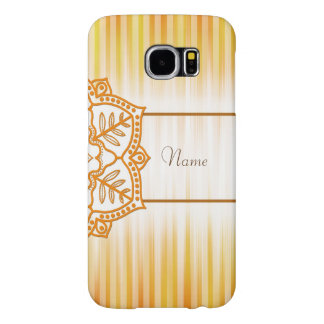 Yellow Abstract Flower Samsung Galaxy S6 Cases