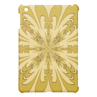 Yellow Abstract Flower Speck Case iPad Mini Cases