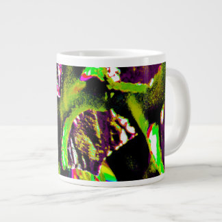 Yellow Abstract Image on Coffee Mug