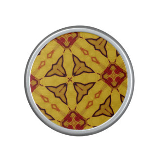 Yellow abstract pattern bluetooth speaker