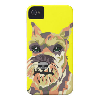 Yellow Abstract Schnauzer iPhone 4 Case-Mate Cases