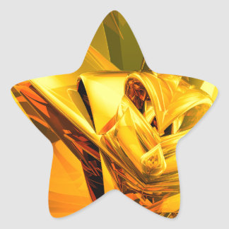 Yellow Abstract Star Sticker