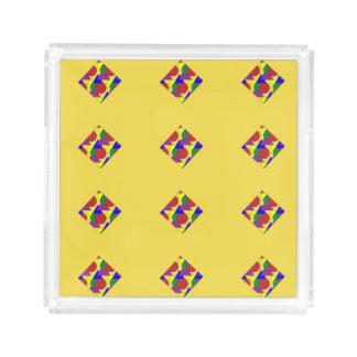 Yellow Abstract Tray
