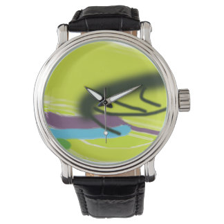 Yellow abstract watch