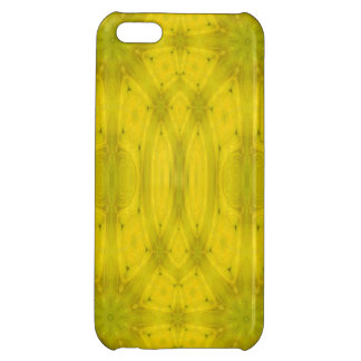 Yellow Abstract Wood Cover For iPhone 5C
