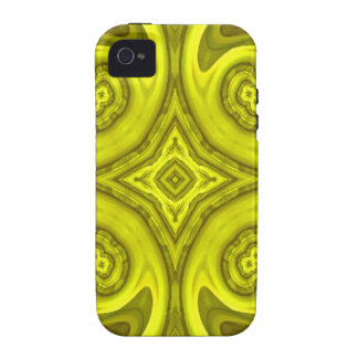 Yellow abstract wood pattern iPhone 4/4S cases