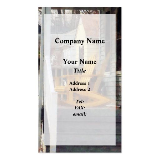 Yellow Adirondack Rocking Chairs Business Card Templates
